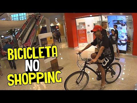 ENTRANDO NO SHOPPING DE BICICLETA #RESPONDAGABRIEL24