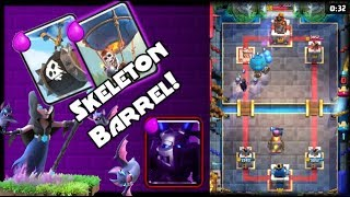 Clash Royale New Skeleton Barrel Balloon Beatdown Deck!