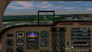Flight Simulator 98: Landing at La Guardia (KLGA), Runway 4