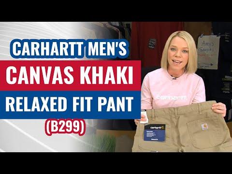 Carhartt Men's Canvas Khaki Relaxed Fit Pant (B299) - YouTube