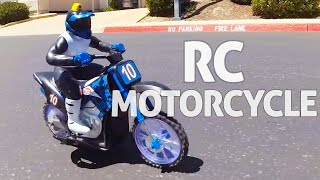 RC Motorcycle w  Camera Built in  REVIEW