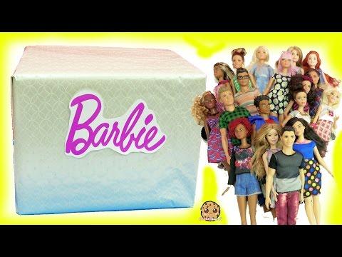 Biggest Haul Giant Box of Cool Barbie Dolls Tall, Petite, Curvy, Ken Fashionistas
