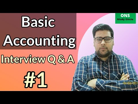 Basic Accounting | Basic Accounting Interview Questions