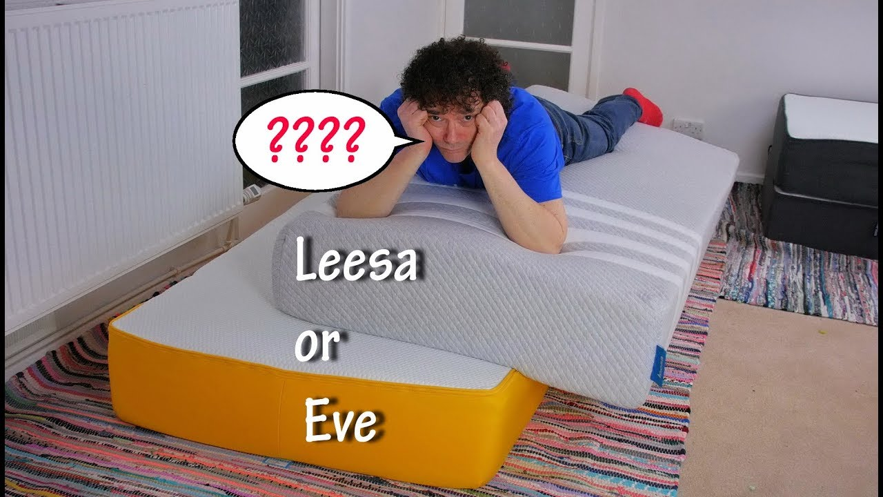 leesa vs eve mattress comparison review 2018 uk foam. Black Bedroom Furniture Sets. Home Design Ideas