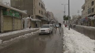 Snowstorms, floods slam Palestinian territories