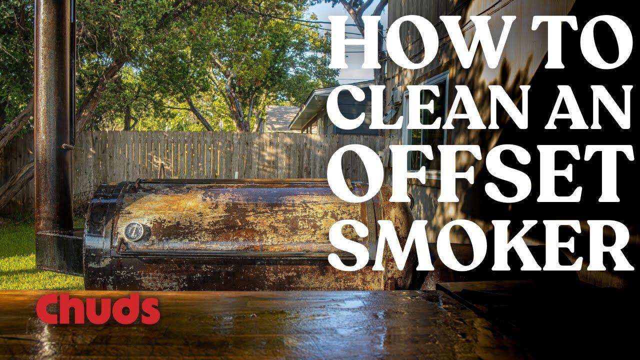 How To Clean a BBQ Smoker   Chuds bbq