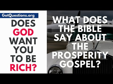 What does the Bible say about the prosperity gospel?