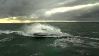 CMN Ocean Eagle 43 Trimaran Patrol Vessel Sea Trial in Sea State 5
