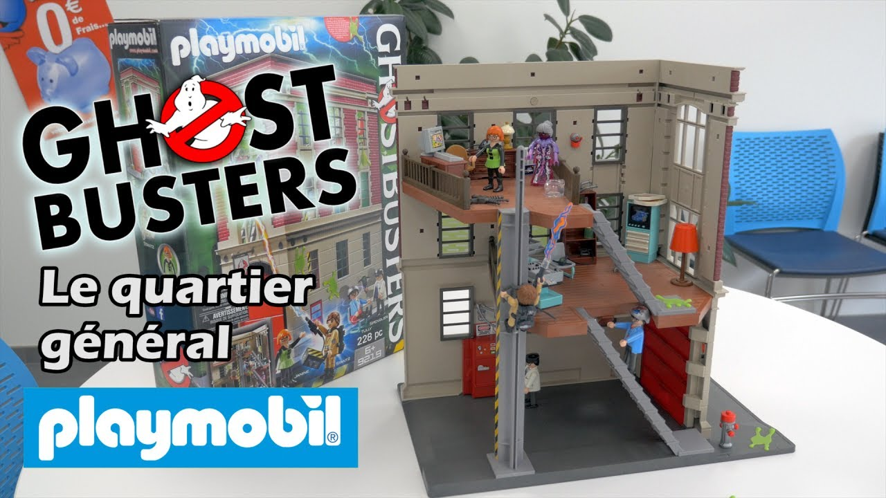 playmobil ghostbusters le quartier g n ral 9219 d mo en fran ais hd fr youtube. Black Bedroom Furniture Sets. Home Design Ideas