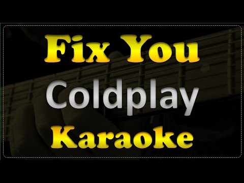 Coldplay - Fix You - Acoustic Guitar Karaoke # 9