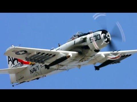 U.S Navy Douglas A 1 Skyraider Attack Aircraft
