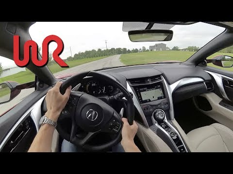 2017 Acura NSX - POV Test Drive (Binaural Audio)
