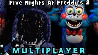 THINGS GET SUPER CHAOTIC! || FNAF 2 Multiplayer Mode (FNAF Fan Game)