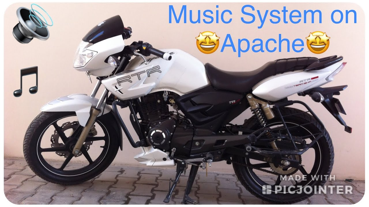 maxresdefault tvs apache rtr 180 music system installation youtube tvs apache wiring diagram at couponss.co