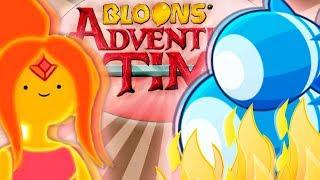 WIELKA BITKA O OGNISTĄ KRÓLEWNĘ | #008 | Bloons Adventure Time TD | PL