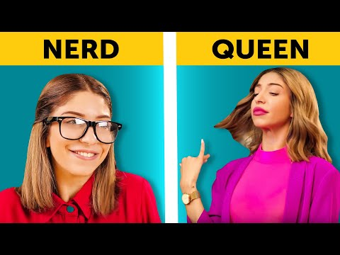 HIGH SCHOOL PARTY || TYPES OF STUDENTS by 5-Minute FUN