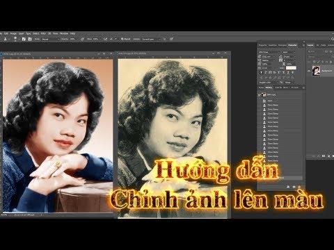Hướng Dẫn Chỉnh ảnh trắng đen lên màu trên photoshop |photoshop