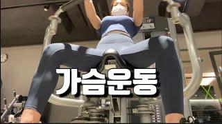 여자 헬스장 가슴운동/어깨운동 루틴(돌체테리아 빵켓팅 …