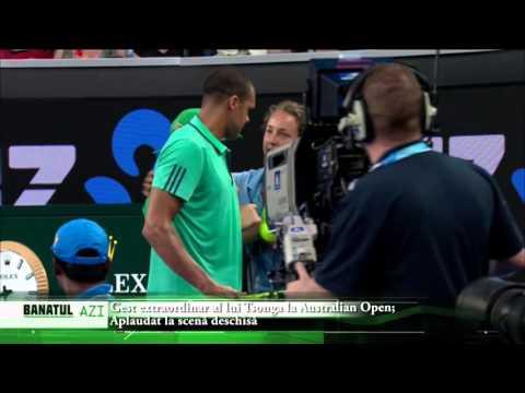 Gest extraordinar al lui Tsonga la Australian Open; Aplaudat la scenă deschisă