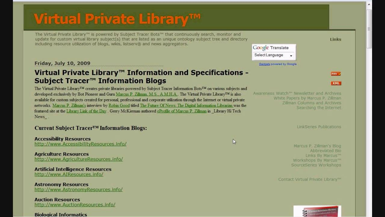 The Virtual Private Library and Deep Web