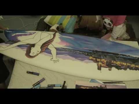 Surfboard Illustrator Caspian de Looze Paints Touching Travel Story #CONTIKILEGENDS