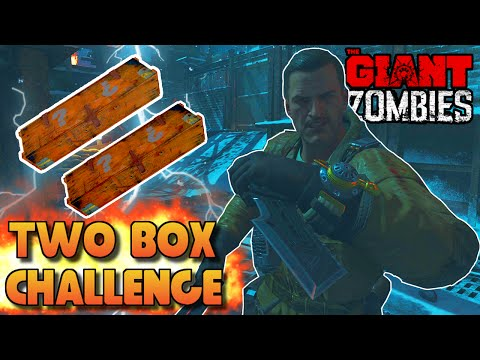 "BLACK OPS 3 ZOMBIES ""THE GIANT"" TWO BOX CHALLENGE! (BO3 Zombies Challenge)"