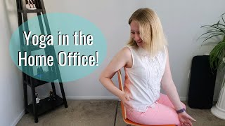 10 Minute Yoga at Your Desk | Quick Total Body Chair Yoga Stretch at Home | Mandy Whatley-Williams
