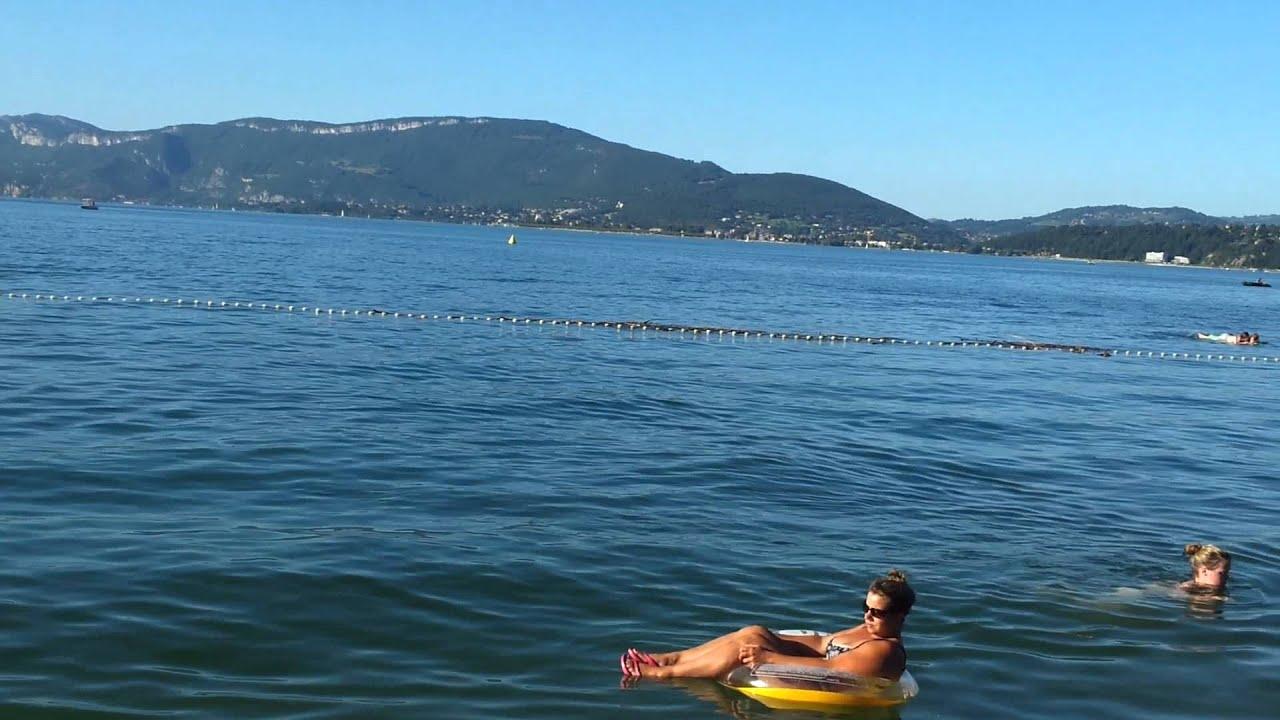 Lac du bourget plage camping ile aux cygnes youtube for Camping lac du bourget piscine