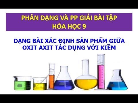 Phương pháp giải bài toán xác định sản phẩm giữa oxit axit tác dụng với kiềm