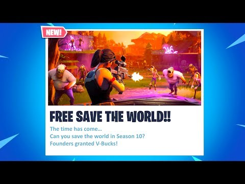 *NEW* FREE Fortnite Save The World Release Date + NEWS! (Fortnite Season 10!)