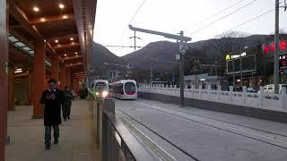 西郊线西门子Sirio有轨电车香山站出站