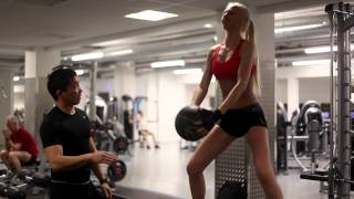 Fitness session with World Top model Olga A.