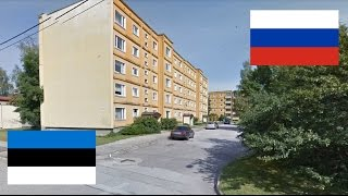 Россия и Эстония. Сравнение. Псков - Тарту. Eesti - Venemaa.Tartu. Estonia - Russia.