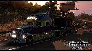 American Truck Simulator/ Развиваемся в онлайне , дальнобой по Америке.Игра с голосом