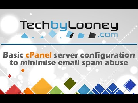 Reduce email spam abuse on a cPanel server