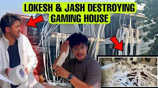 Lokesh Gamer & Jash Destroying There Gaming House With 1000 Paper Rolls