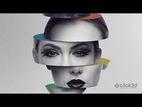 Sliced head - Photo Manipulation Tutorial | click3d
