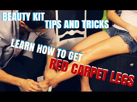 Red Carpet Makeup for Legs Step by Step Tutorial - mathias4makeup