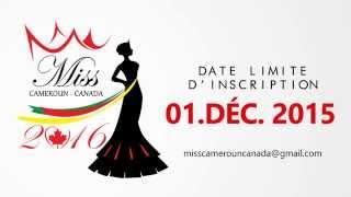 Inscription Miss Cameroun Canada 2016: Elvis Kemayo