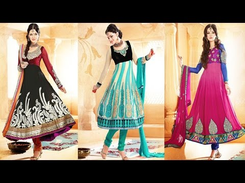Stylish Indian Umbrella Frock Designs and Churidar Suits 2017