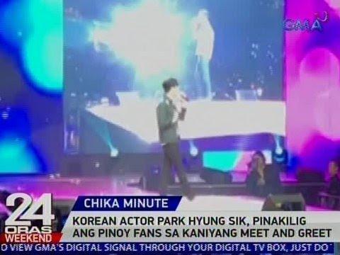 24 Oras: Korean actor Park Hyung Sik, pinakilig ang Pinoy fans sa kaniyang meet and greet