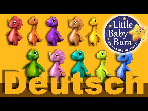 10 Dinosaurier | Kinderlieder | LittleBabyBum