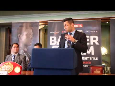 DARREN BARKER v FELIX STURM - FULL LONDON PRESS CONFERENCE @ TRINITY HOUSE