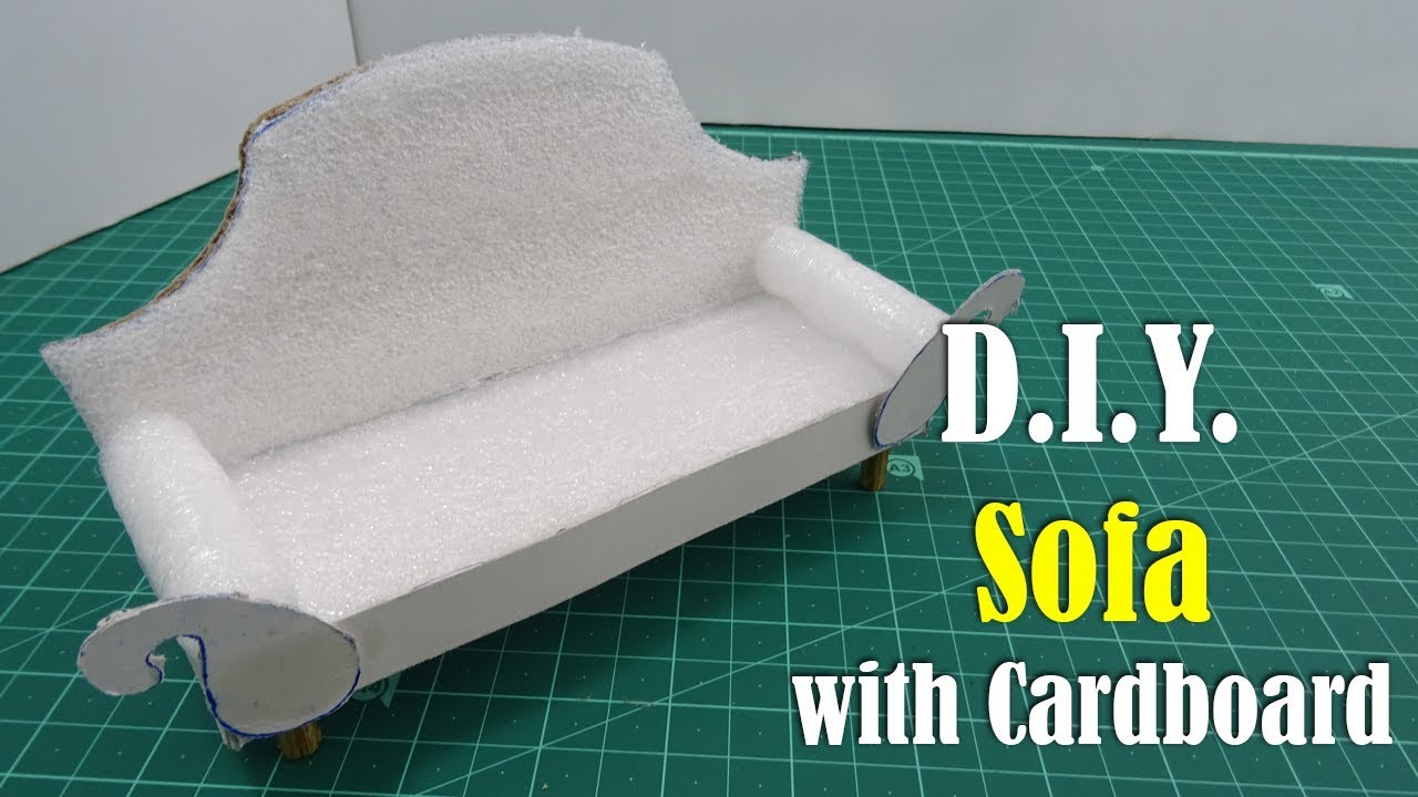 Y Sofa Easy Slipcover Diy With Cardboard Youtube