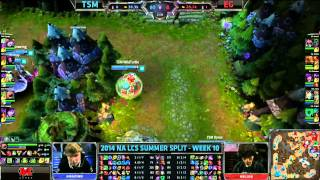 TSM (Amazing Elise) VS EG (Helios Lee Sin) Highlights - 2014 NA LCS Summer W10D1