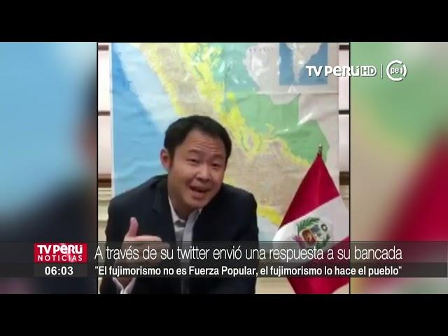 Fuerza Popular suspende a Kenji Fujimori por 120 días
