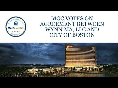 MGC votes on Wynn MA LLC / City of Boston agreement