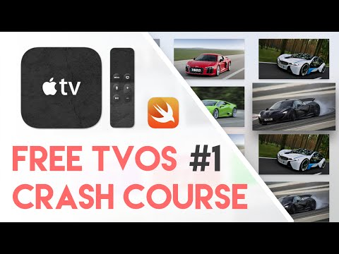 Free tvOS Swift Crash Course #1 - Creating My First App (Free Apple TV Tutorial Crash Course)