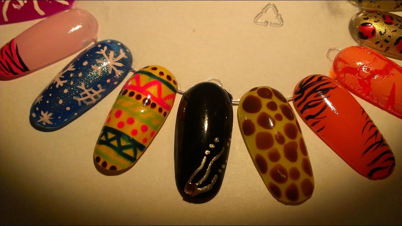 Galeria Nail Art # 2 Diseños para Uñas largas - YouTube