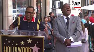 Tracy Morgan gets a star on Hollywood Walk of Fame, with support from Martin Lawrence and Jordan Pee